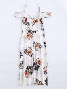 Floral Print Flounce Cami Jumpsuit