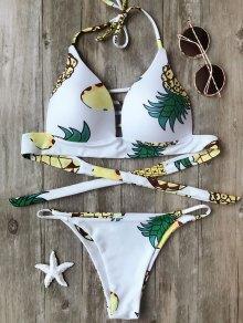 Ensemble De Bikini Moulé à L'ananas Fuller Bust - Blanc S