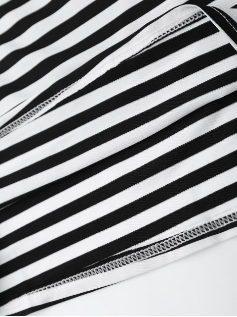 sale Cut Out Striped Cami Dress - STRIPE S Mobile