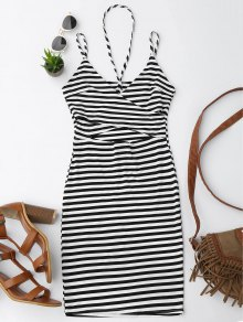 Cut Out Striped Cami Dress