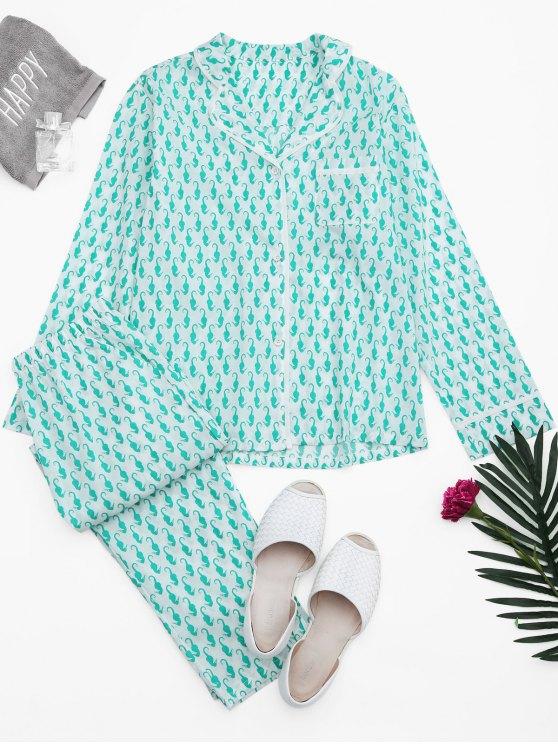 Costume de salon de poche à la balle de mer - Blanc S
