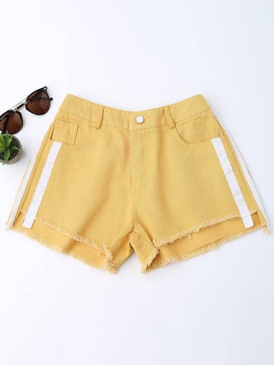 Pantalones cortos rayados de mezclilla Den Denim - Jengibre L