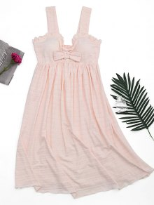 Ruffles Straps Bowknot Padded Sleep Dress
