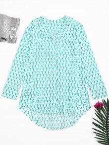 High Low Sea Horse Print Loungewear Shirt