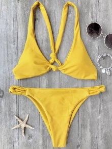 Knotted Padded Scoop Bikini Set