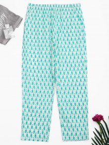 Side Pockets Sea Horse Print Loungewear Pants