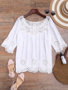 Loose Fitting Crochet Panel Cover Up