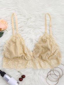Longline Floral Lace Bralette Top