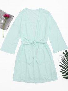 Kimono Belted Pockets Night Robe
