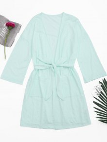 Kimono Belted Pockets Night Robe