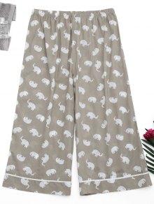 Loungewear Elephant Print Pants