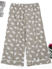 Loungewear Elephant Print Pants