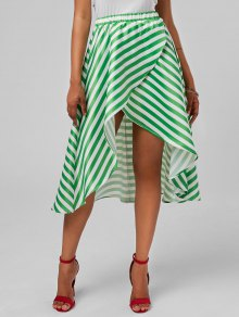 High Low Stripe Skirt - Mint M