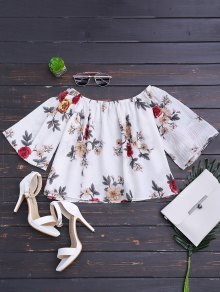 Loose Floral Off Shoulder Top