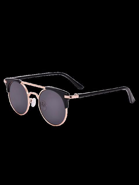 women's Anti UV Cat Eye Sunglasses with Box - BLACK  Mobile