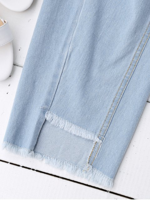 best Cutoffs Serious Frayed Tapered Jeans - DENIM BLUE L Mobile