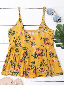 Ruffles Floral Tank Top - Floral