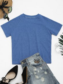 Knitted Cotton Ribbed Top