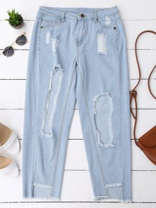 Cutoffs Serious Frayed Tapered Jeans