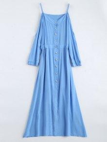Maxi Cami Cold Shoulder Shirt Dress