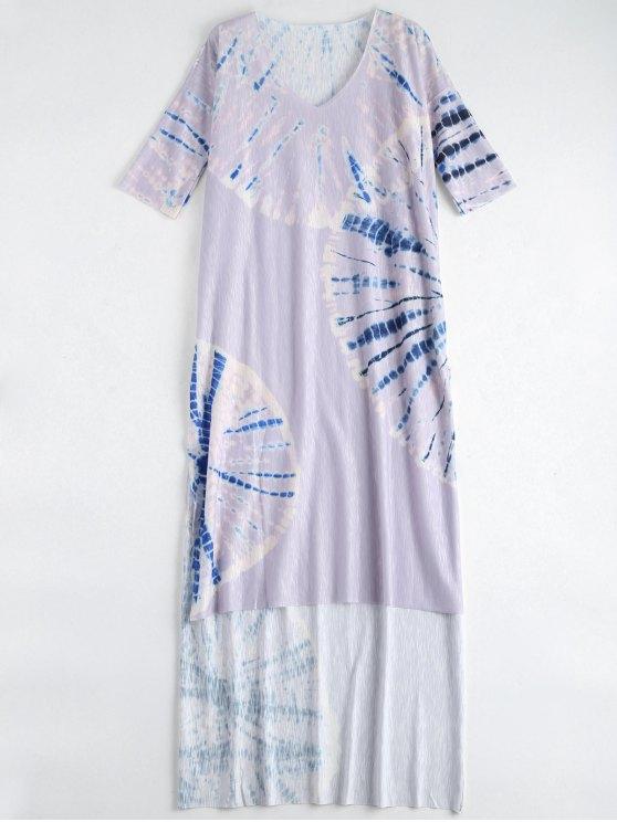 التعادل صبغ شاطئ فستان طويل التستر - أرجواني M