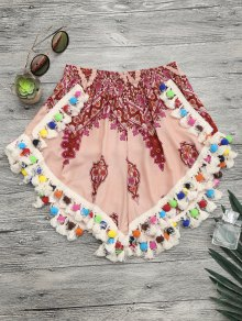 Pom Pom Beach Cover Up Shorts