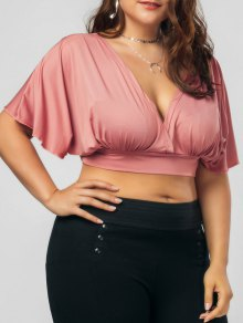 Plus Size Bowknot Cropped Top