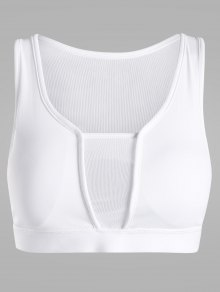 Cut Out Mesh Panel Padded Sports Bra