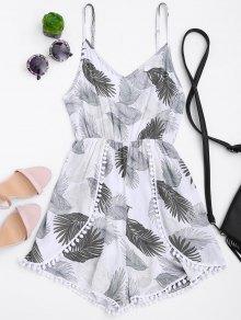 Cami Tropical Layered Romper - Blanco L