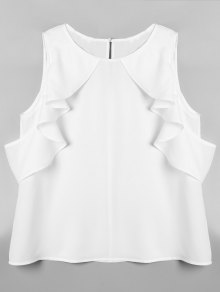 Cold Shoulder Flounced Top