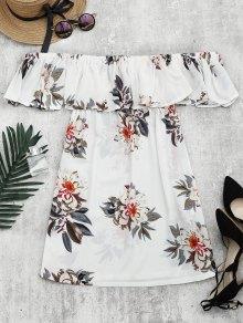 Floral Print Flounce Hem Shift Dress
