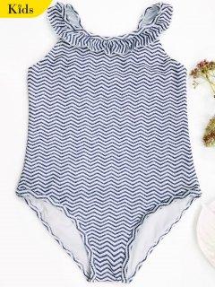 منعرج زاك الزاك قطعة واحدة ملابس السباحة - ازرق وابيض 7t