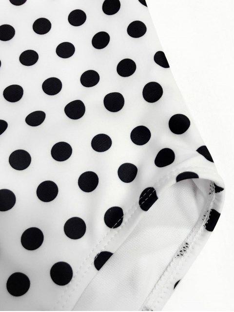 hot Bowknot Polka Dot One Piece Swimwear - WHITE 4T Mobile