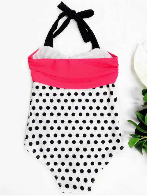 outfit Bowknot Polka Dot One Piece Swimwear - WHITE 5T Mobile