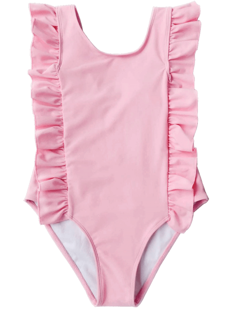sale Ruffles Girls One Piece Swimwear - PINK 3T Mobile