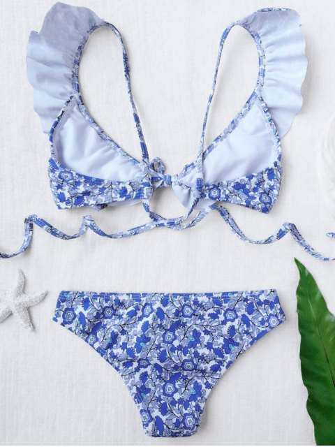 best Ruffled Tiny Floral Bikini - FLORAL 6T Mobile