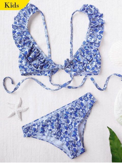 online Ruffled Tiny Floral Bikini - FLORAL 7T Mobile