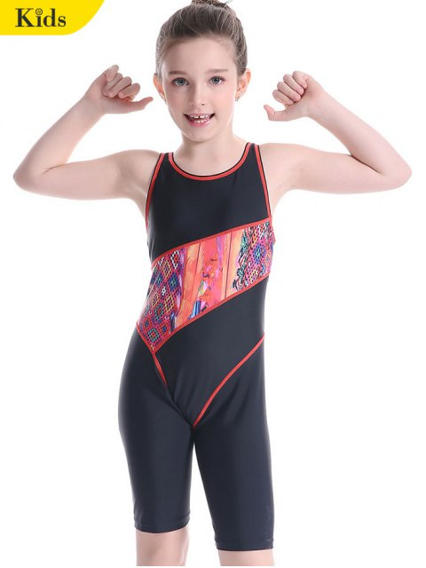 online Printed Cut Out Surfing Swimwear - BLACK 6T Mobile