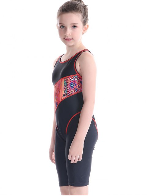 new Printed Cut Out Surfing Swimwear - BLACK 7T Mobile