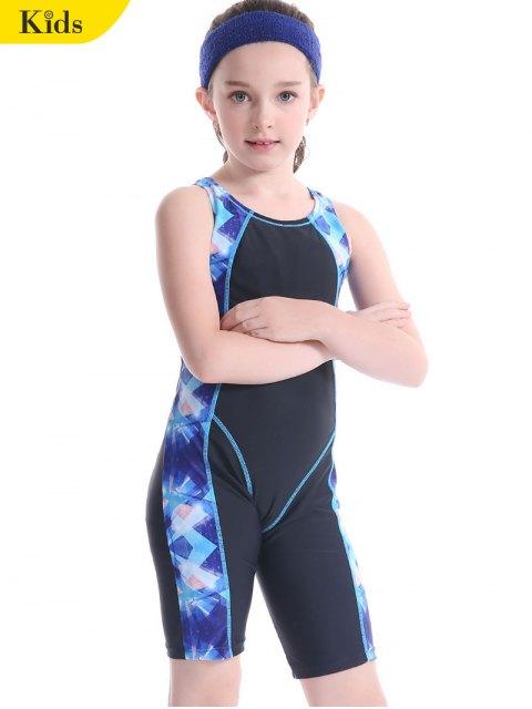 latest Patterned Cut Out Snorkeling Swimwear - BLACK 7T Mobile