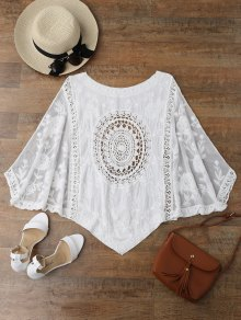 Irregular Hem Scoop Crochet Cover Up