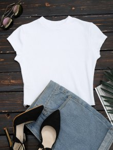 Ruffled Cropped Ribbed Top