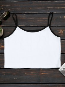 Cotton Color Block Cropped Tank Top