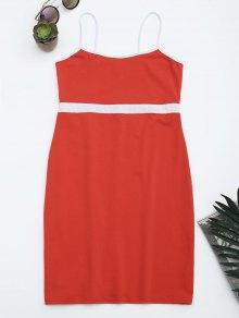Two Tone Bodycon Slip Mini Dress