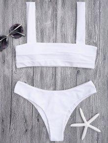 Bandeau Padded Bikini Top and Bottoms