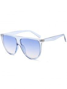 Attached Frame Anti UV Wide Sunglasses - Light Blue