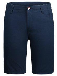 Zip Fly Pocket Plain Chino Shorts