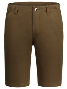 Zip Fly Pocket Cotton Chino Shorts