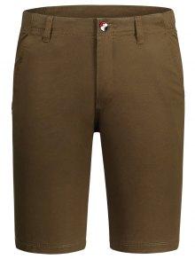 Zip Fly Pocket Cotton Chino Shorts
