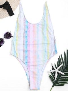 انخفاض الظهر التعادل صبغ السامي قطع ملابس السباحة - M